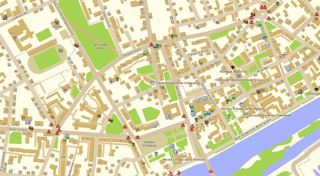 Карта Улиц Пинска
